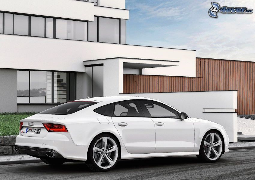 Audi RS7, luxury house