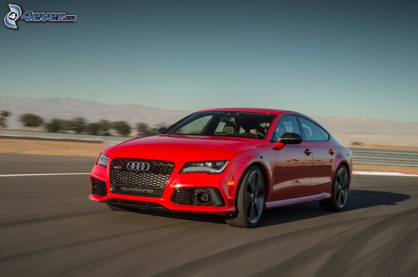 Audi RS7, road, speed
