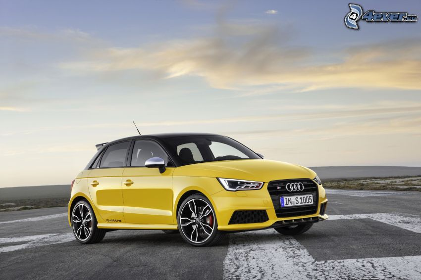 Audi S1, yellow car