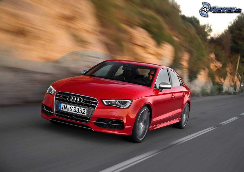 Audi S3, road, speed