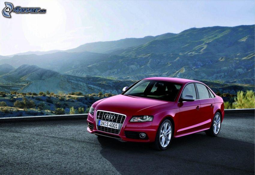 Audi S4, hills