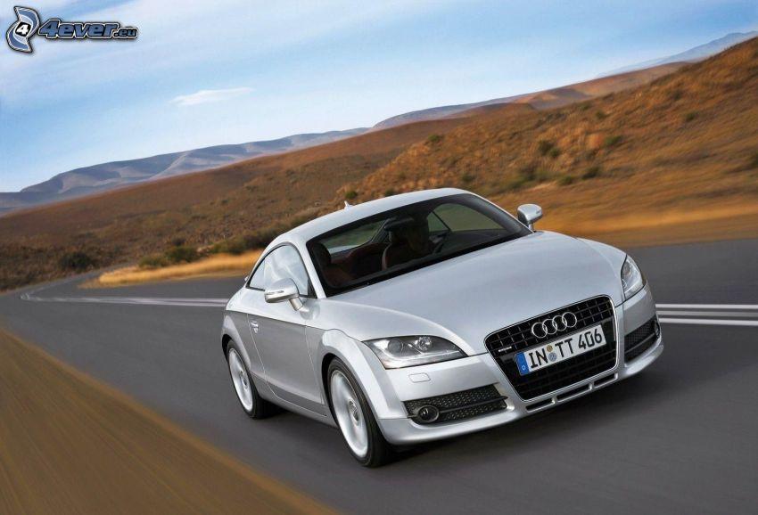 Audi TT, road, speed