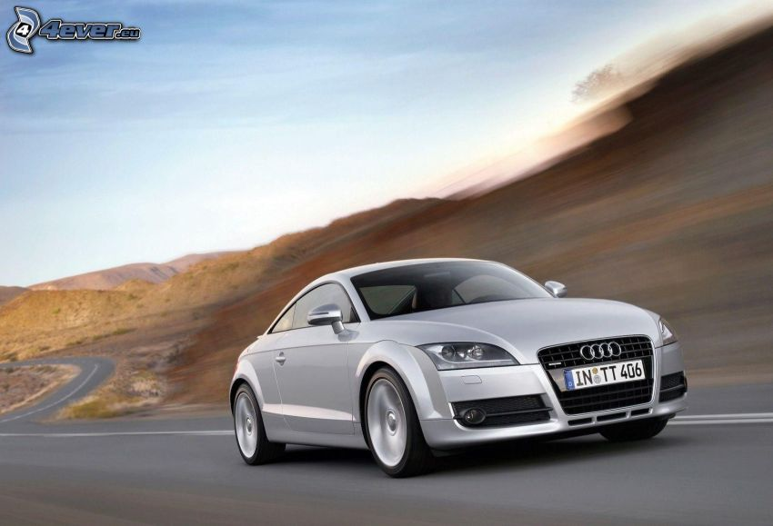 Audi TT Coupé, speed, road