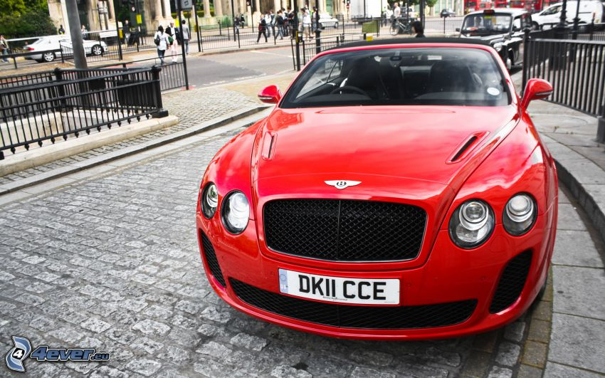 Bentley Continental, pavement, street