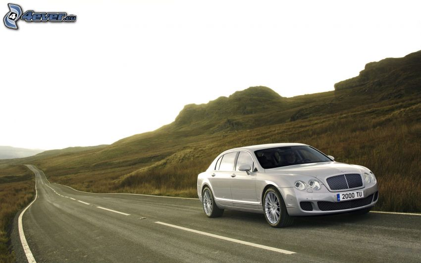 Bentley Continental, road, hill