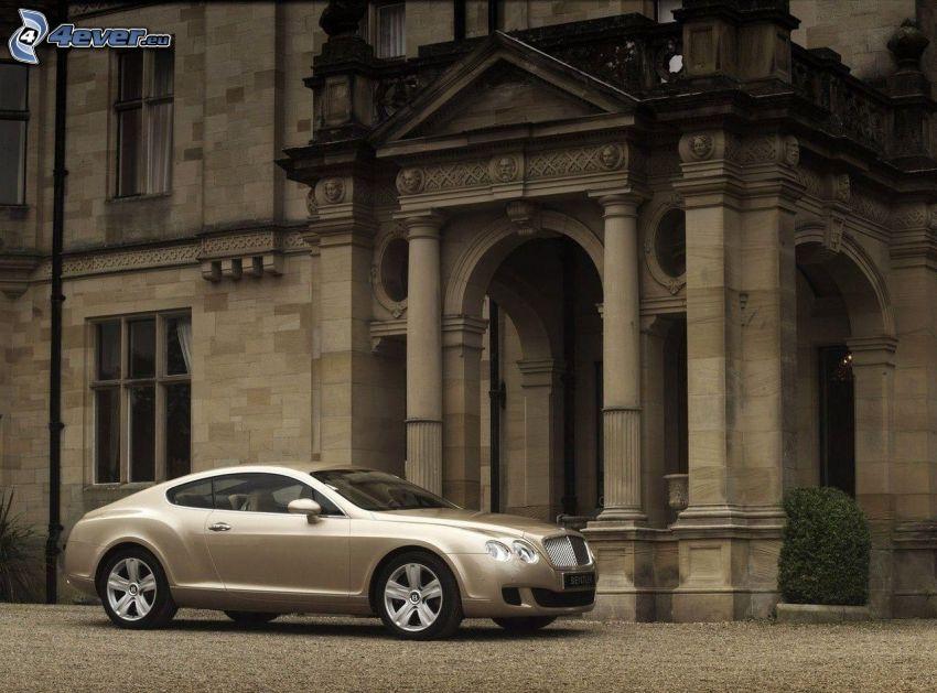 Bentley Continental GTC, building, sepia