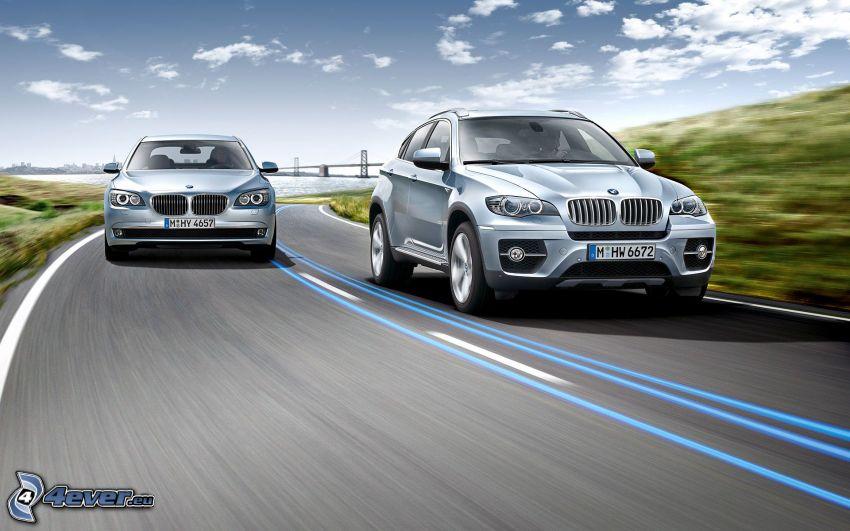 BMW, BMW 7, BMW X6, road