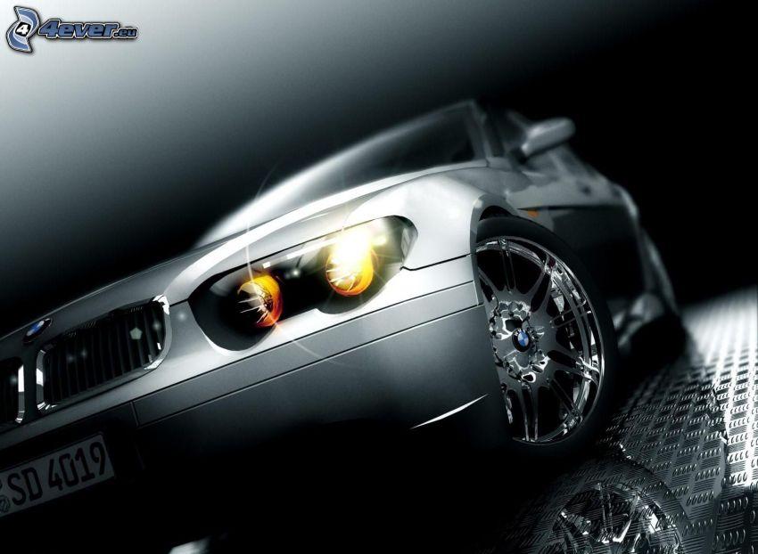 BMW, reflector