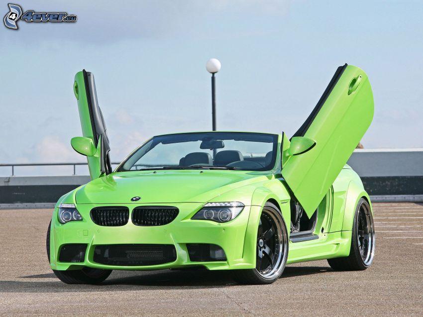 BMW 6 Series, convertible, car park