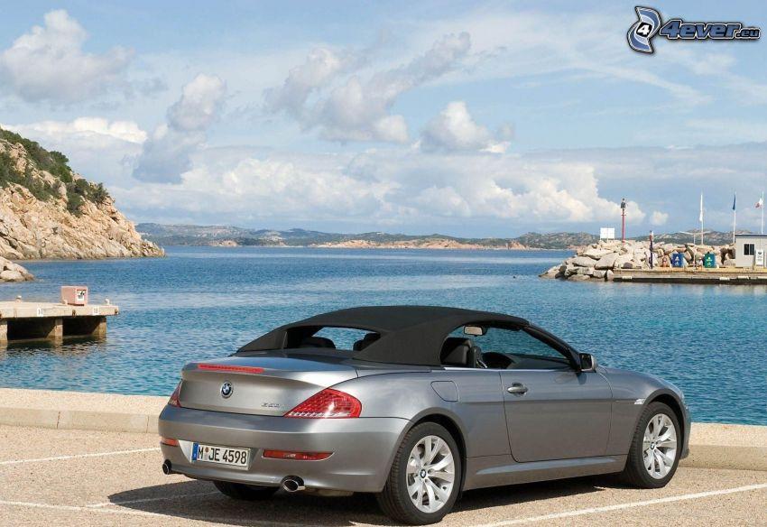 BMW 6 Series, convertible, sea