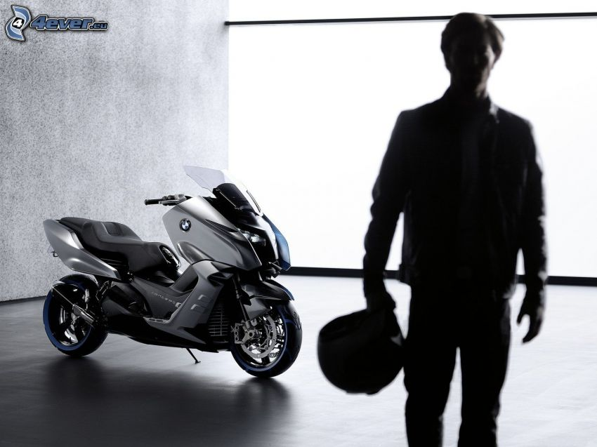 BMW Concept C Scooter, moto-biker