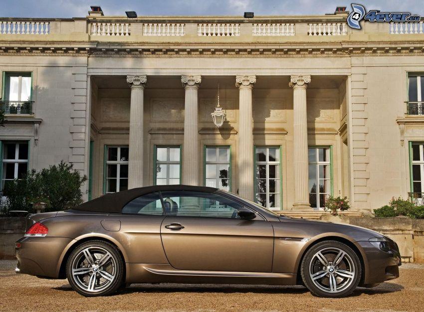 BMW M6, convertible, building