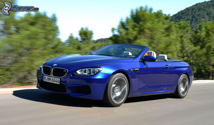 BMW M6, convertible, speed