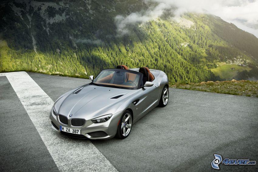 BMW Z4, mountains