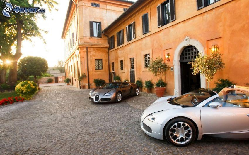 Bugatti Veyron, convertible, house