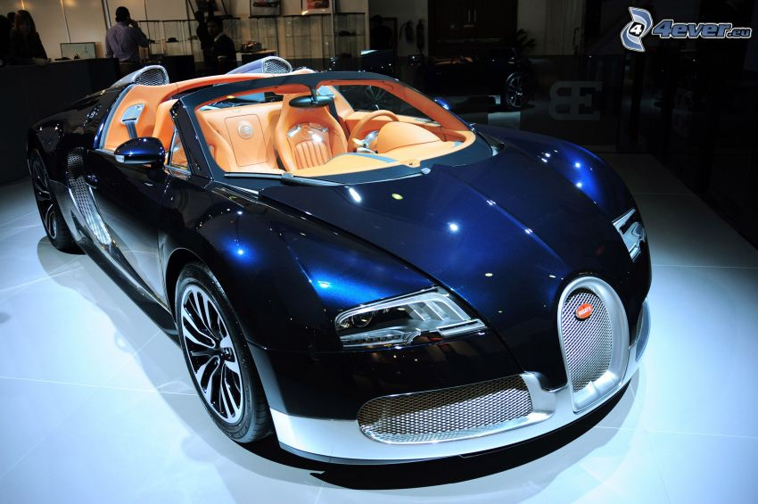 Bugatti Veyron, convertible, lighting