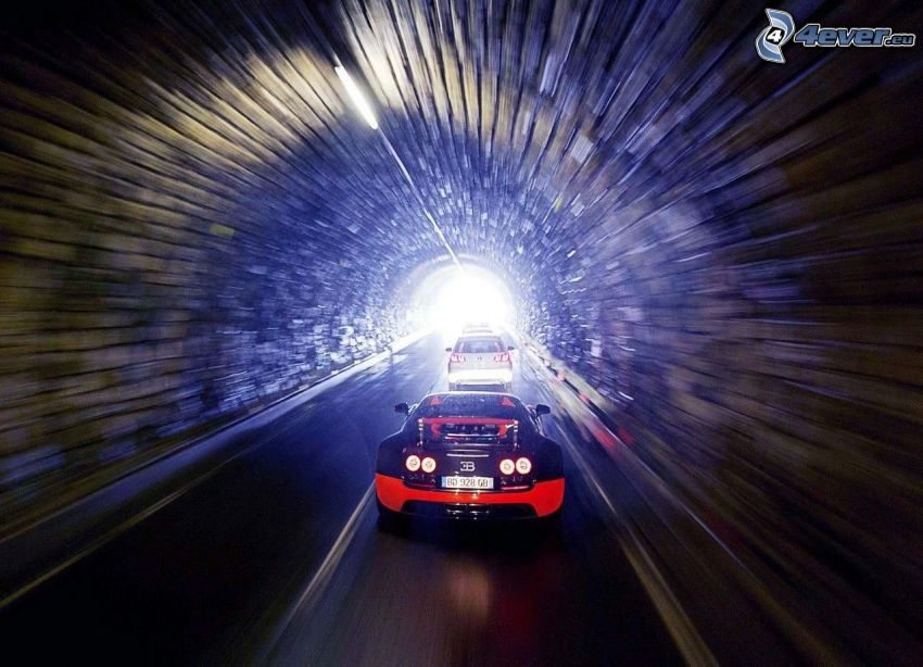 cars, tunnel, speed