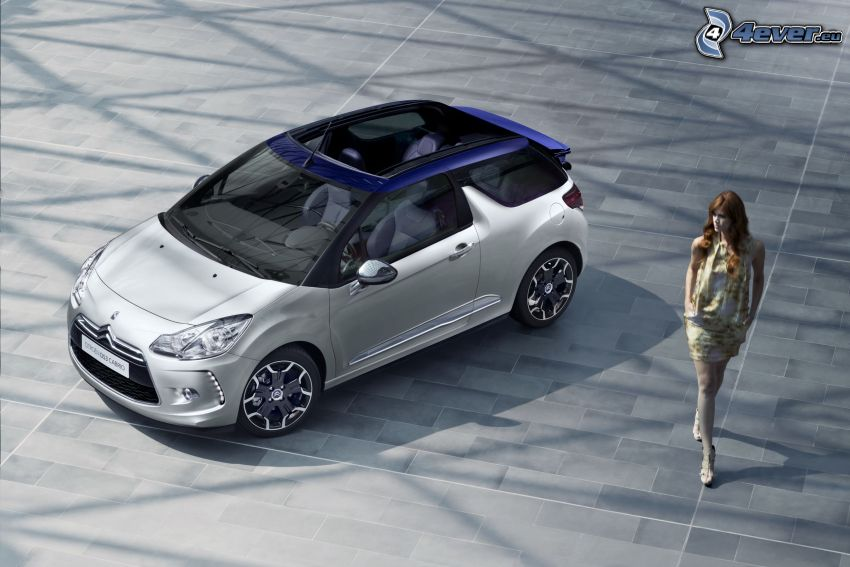 Citroën DS3 Cabrio, brunette