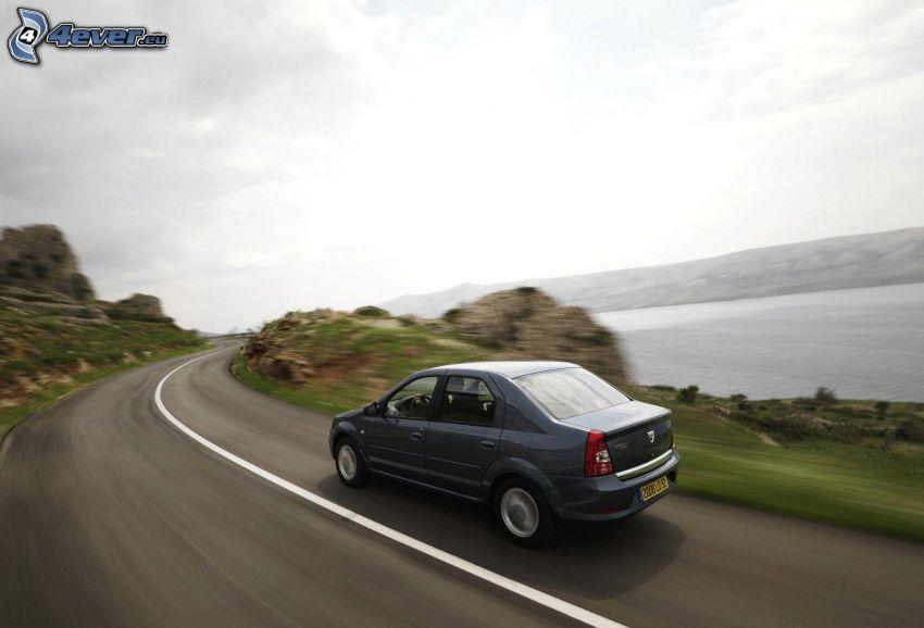 Dacia Logan, road, speed