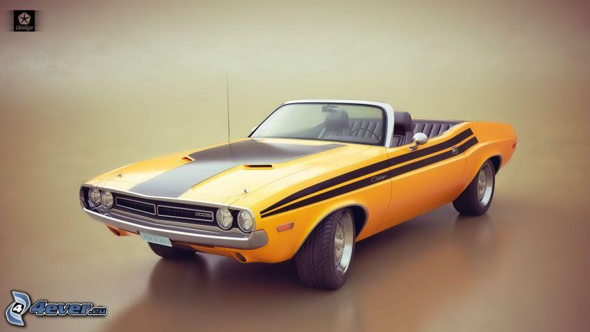 Dodge Challenger, oldtimer, convertible