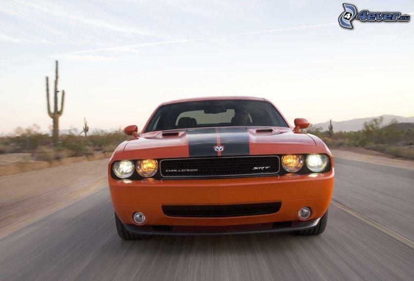 Dodge Challenger SRT, speed, road