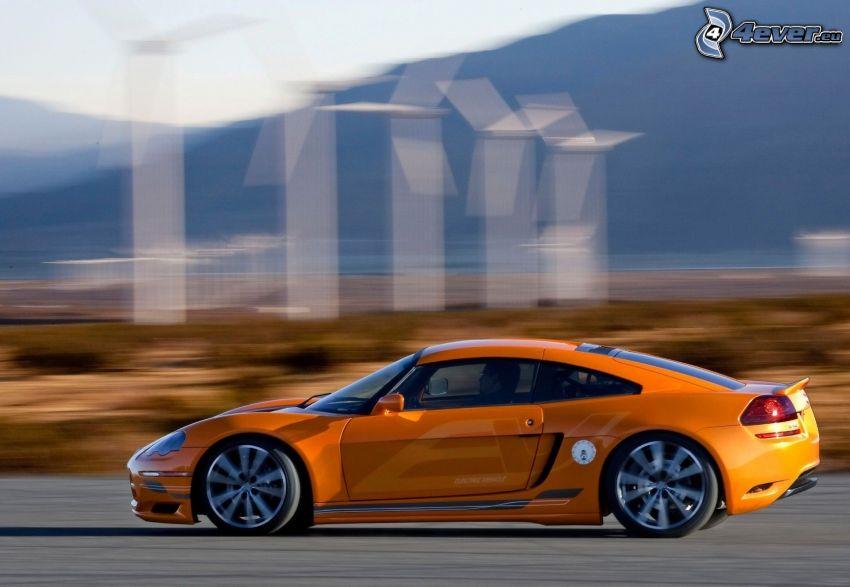 Dodge Circuit EV, wind power plant, speed