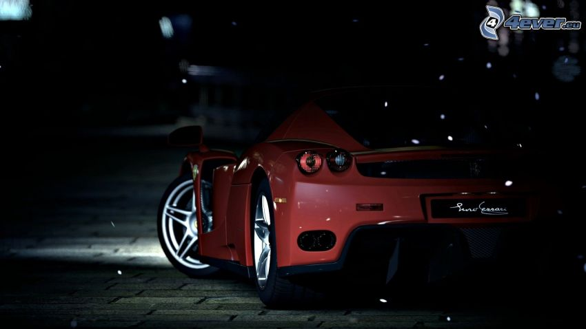 Ferrari, night