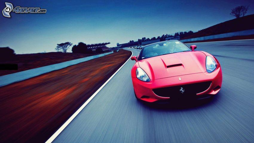 Ferrari, road, speed