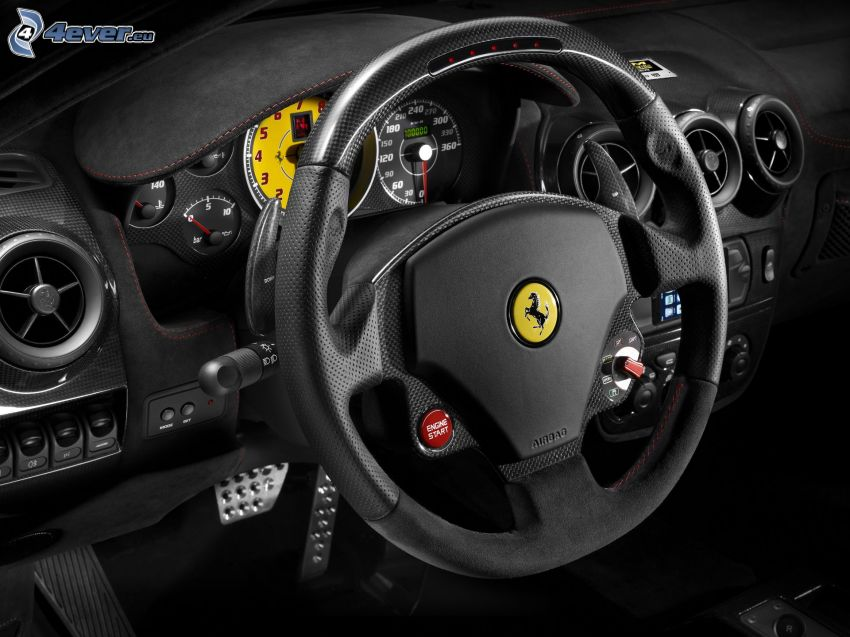 Ferrari, steering wheel