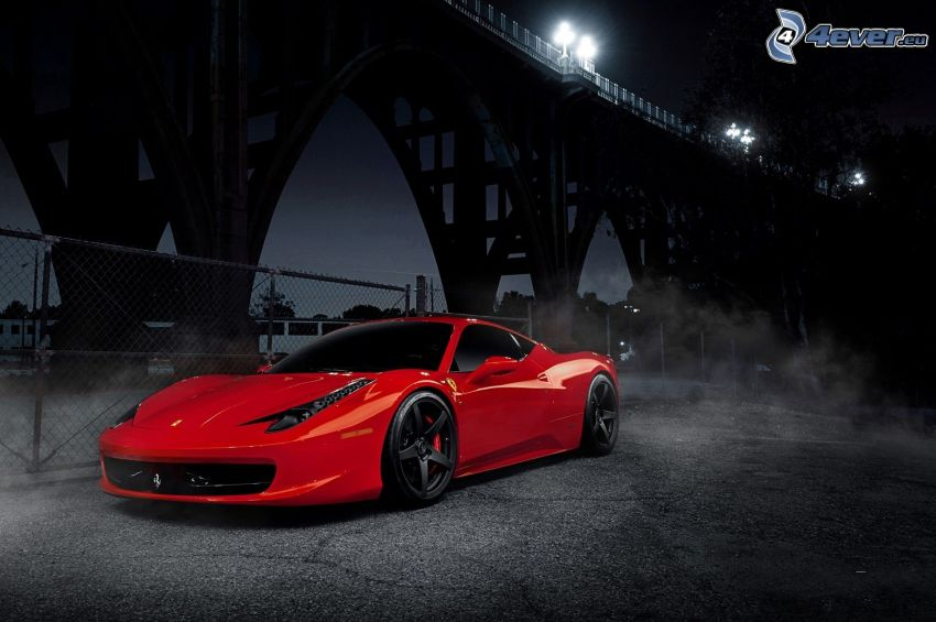 Ferrari 458 Italia, under the bridge