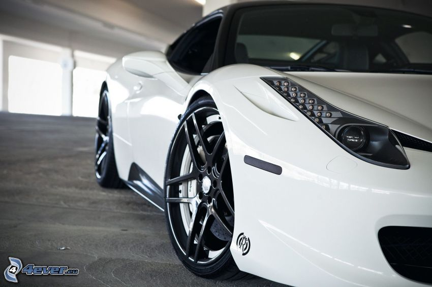 Ferrari 458 Italia, wheels, headlight