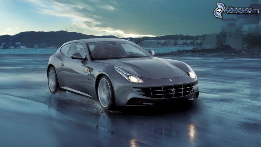 Ferrari FF, road, speed