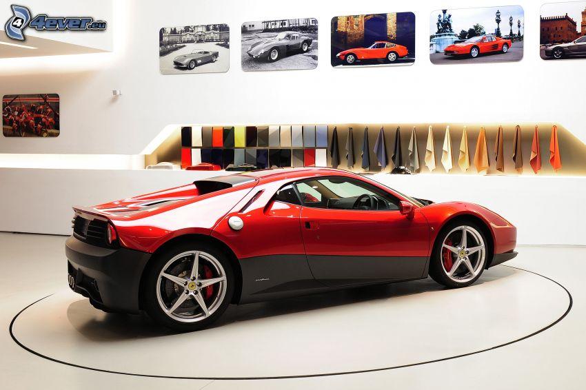Ferrari SP12C, exhibition, evolution