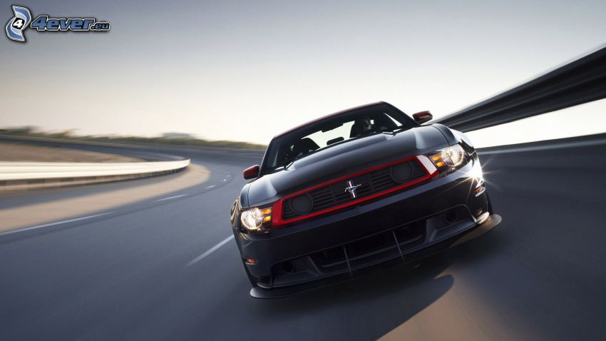 Ford Mustang, road curve