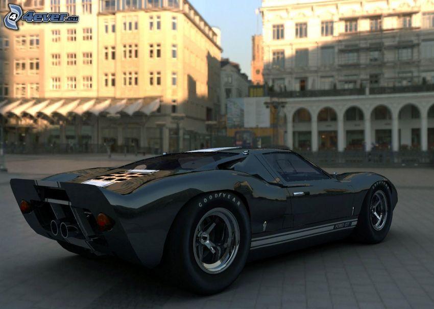 Hennessey Venom GT, pavement, buildings