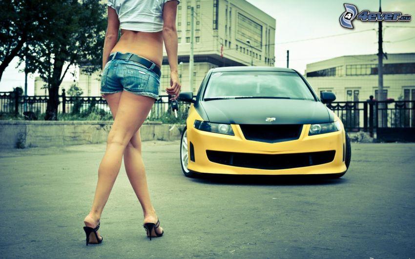 Honda, tuning, sexy legs