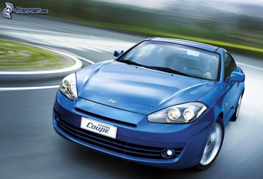 Hyundai Coupé, road curve, speed