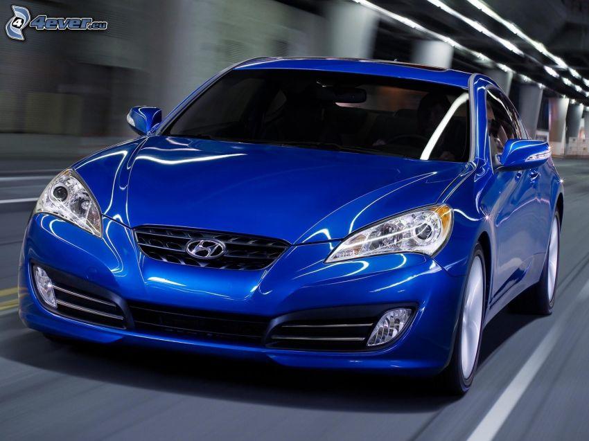 Hyundai Genesis, speed, tunnel