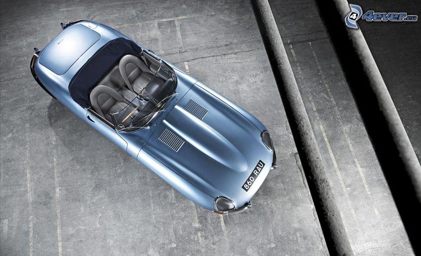 Jaguar E-Type, oldtimer, convertible
