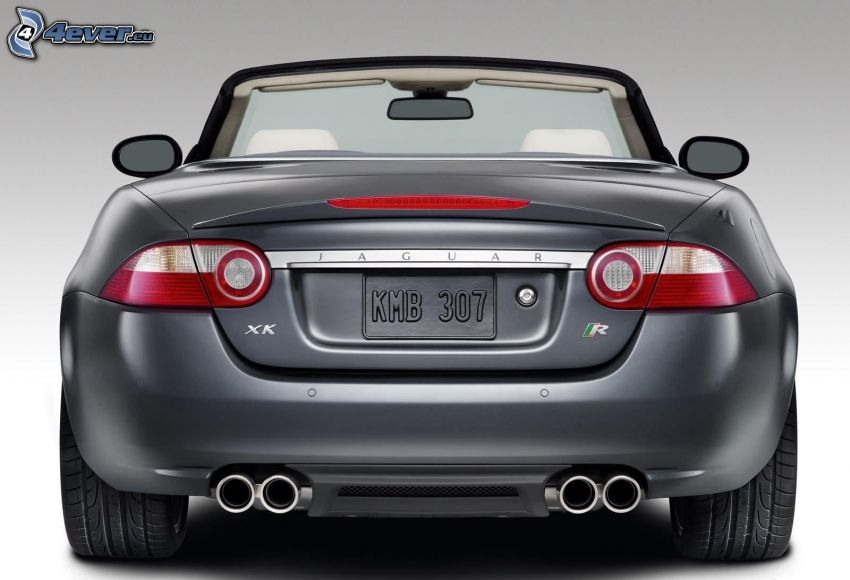 Jaguar XKR, convertible, exhaust