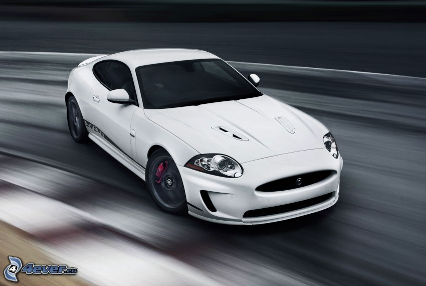 Jaguar XKR, speed, drifting