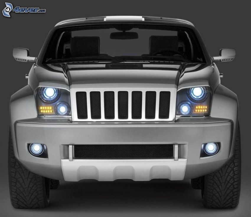 Jeep Wrangler, front grille