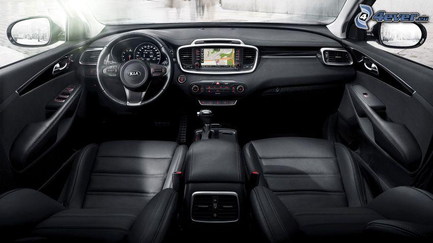 Kia Sorento, steering wheel, dashboard, interior