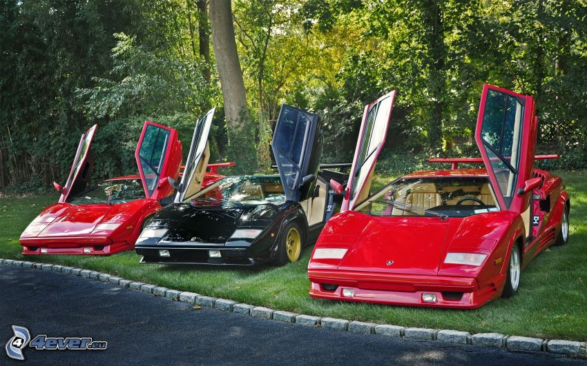 Lamborghini, door, oldtimers