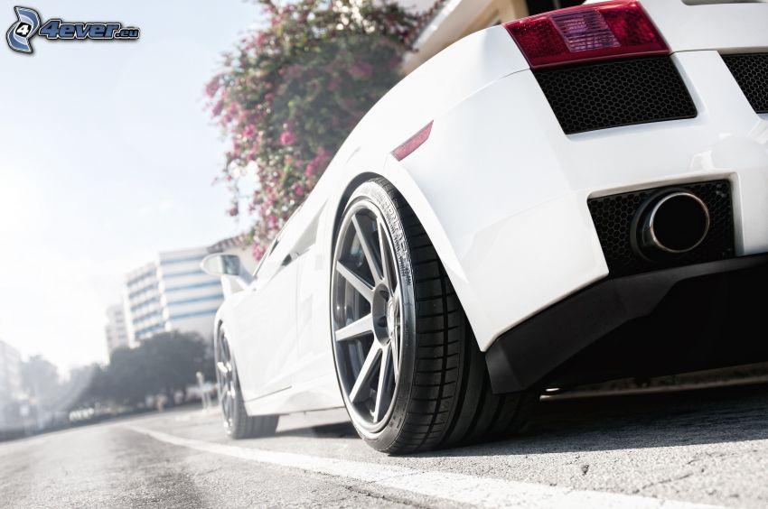 Lamborghini Aventador, exhaust, wheel