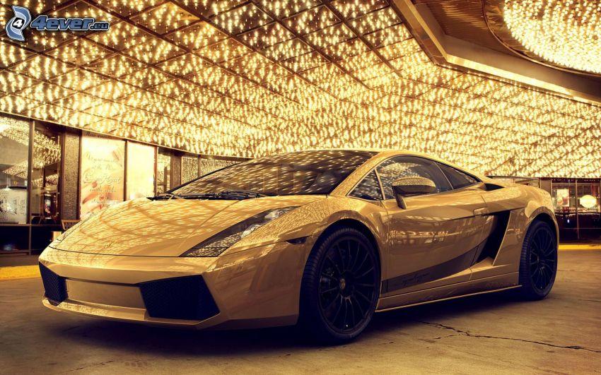 Lamborghini Aventador, lights