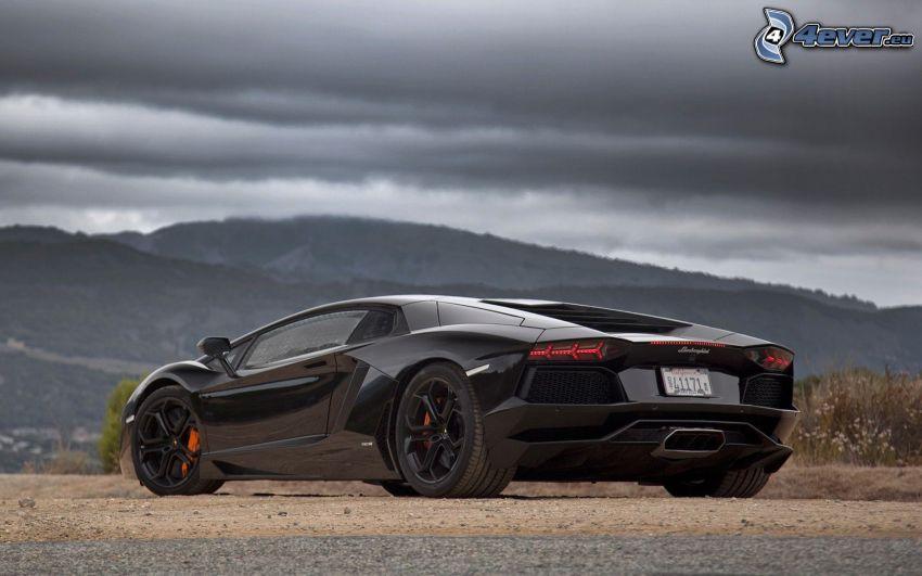 Lamborghini Aventador, mountain
