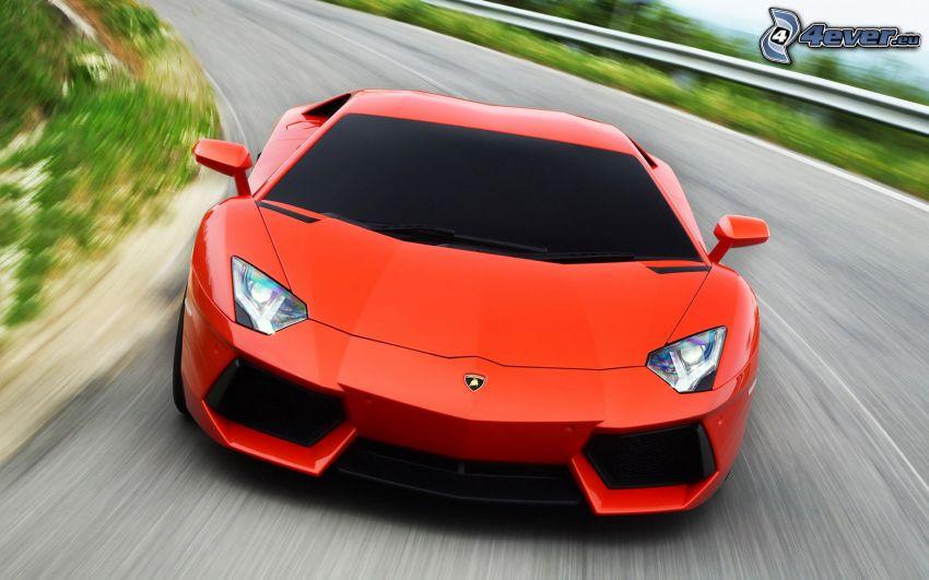 Lamborghini Aventador, speed