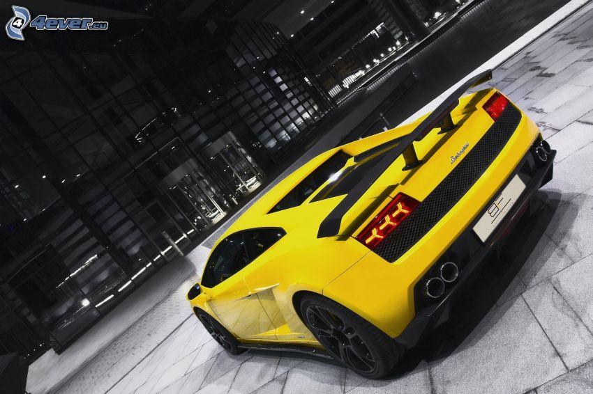 Lamborghini Gallardo, pavement, building
