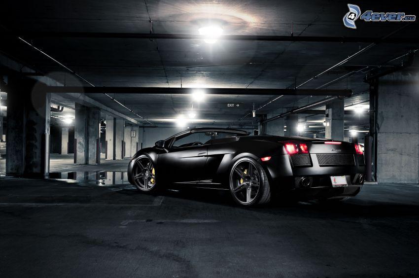 Lamborghini Gallardo Spyder, convertible, garage